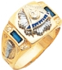 Custom Past Masters Side Jeweled Ring Model # 359598