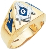 Triangle Faced Masonic Ring Model # 359610