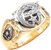 Jeweled Top Custom Shriners Ring Model # 359639