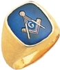 Brushed Finish Masonic Ring Model # 359689