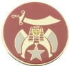 Round Shriner Pin