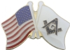 USA Square & Compass Flag Pin
