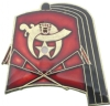 Shriners Fez & Crutches Pin