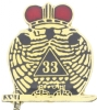 33rd Degree Pin