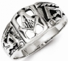 Antique Style Sterling Masonic Ring Model # 360981