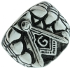 Silver Tone Masonic Nugget Ring Model # 361008