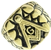 Gold Tone Masonic Nugget Ring Model # 361009