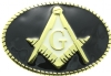 Black & Gold Masonic Belt Buckle Model # 361109