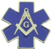Star of Life Masonic Pin