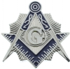 Silver Star Burst Square & Compass Pin Model # 361186