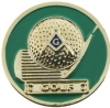 Masonic Golf Pin
