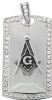 Jeweled Masonic Pendant w/ Chain Model # 361234