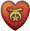 Shriners Heart Pin