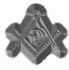 Square & Compass Metal Stamp Model # 361460