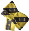Black and Gold Bow Tie and Pocket Square Combo Model # 361762