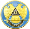 32nd Degree Wings Down Scottish Rite Auto Emblem Model # 361858