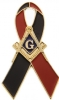 Black & Blue Ribbon Pin