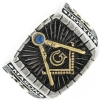 Two Tone Master Mason Jeweled Ring Model # 361931