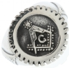Steel Masonic Gear Ring Model # 361935