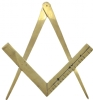 Brass Square & Compass Wall Ornament Model # 361965