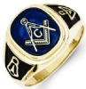 Blue Acrylic Masonic Ring Model # 362115