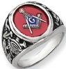 14k White Gold Masonic Ring Model # 362151