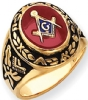 14k Gold Masonic Ring Model # 362152