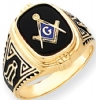 14k Gold Masonic Ring Model # 362156