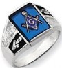 14k White Gold Masonic Ring Model # 362165