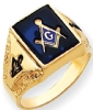 14k Gold Masonic Ring Model # 362166