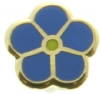 Forget-Me-Not Lapel Pin (Gold Tone)