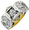 Jeweled Master Mason Custom Ring Model # 362290