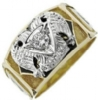Scottish Rite Solitaire Ring Model # 362298