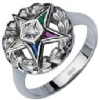 Eastern Star Solitaire Ring Model # 362301