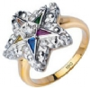 Jeweled Eastern Star Ring Model # 362302