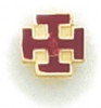 Maltese Cross Lapel Pin