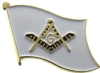 Square & Compass Flag Pin