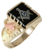 Black Hills Gold Master Mason Ring Model # 363966