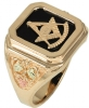 Black Hills Gold Past Master Ring Model # 363967