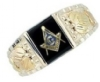 Black Hills Gold Two Tone Masons Ring Model # 363968